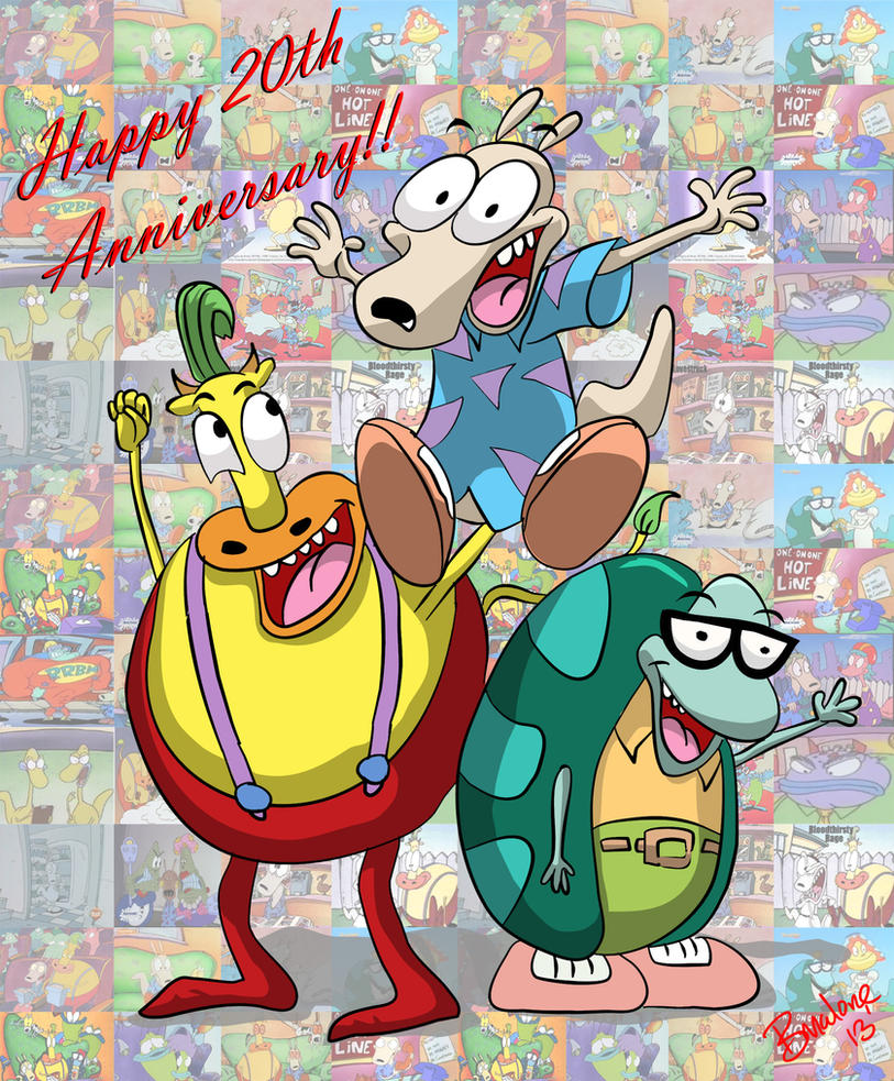 Happy 20th Anniversary Rocko's Modern Life!! by The-B-Meister