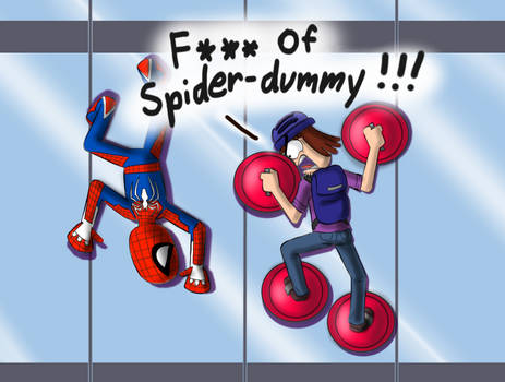 Suction Cup Man meets Spider-man