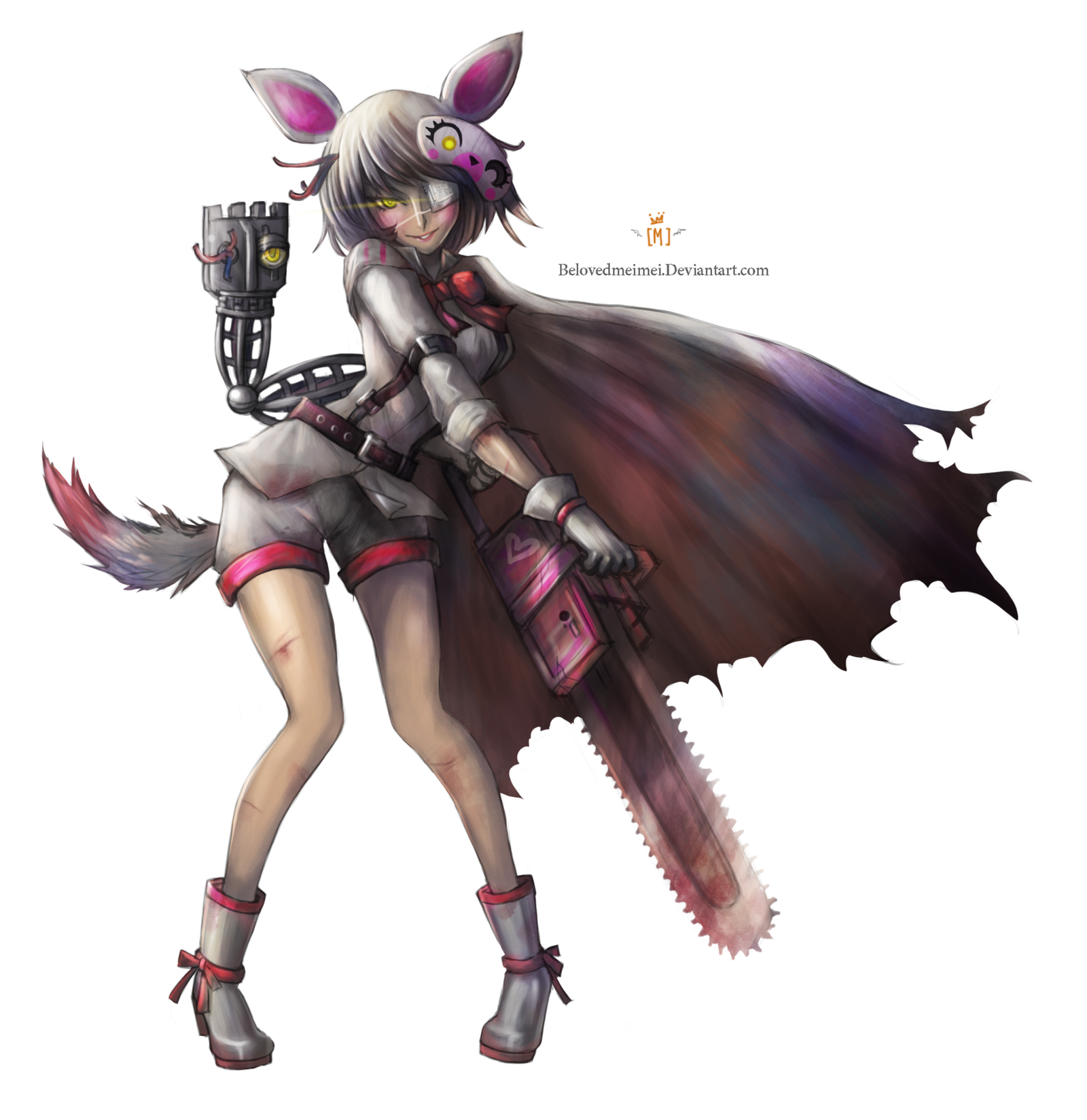 Mangle With Chainsaw + Speedpaint By SirMei On DeviantArt