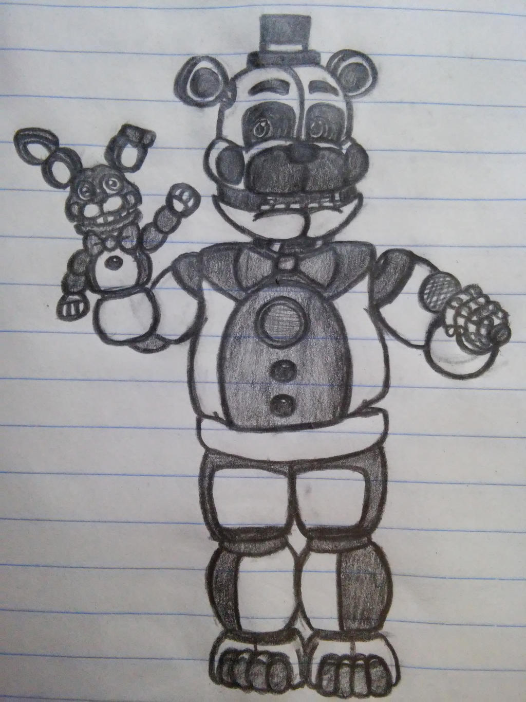 Coloring pages f naf sl coloring pages f naf foxy coloring pages - Funtime Freddy By Dragonnerd906 On Deviantart