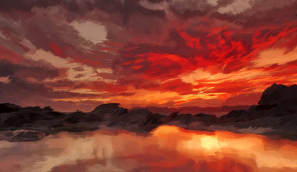 Blood red sky by anonymouxx