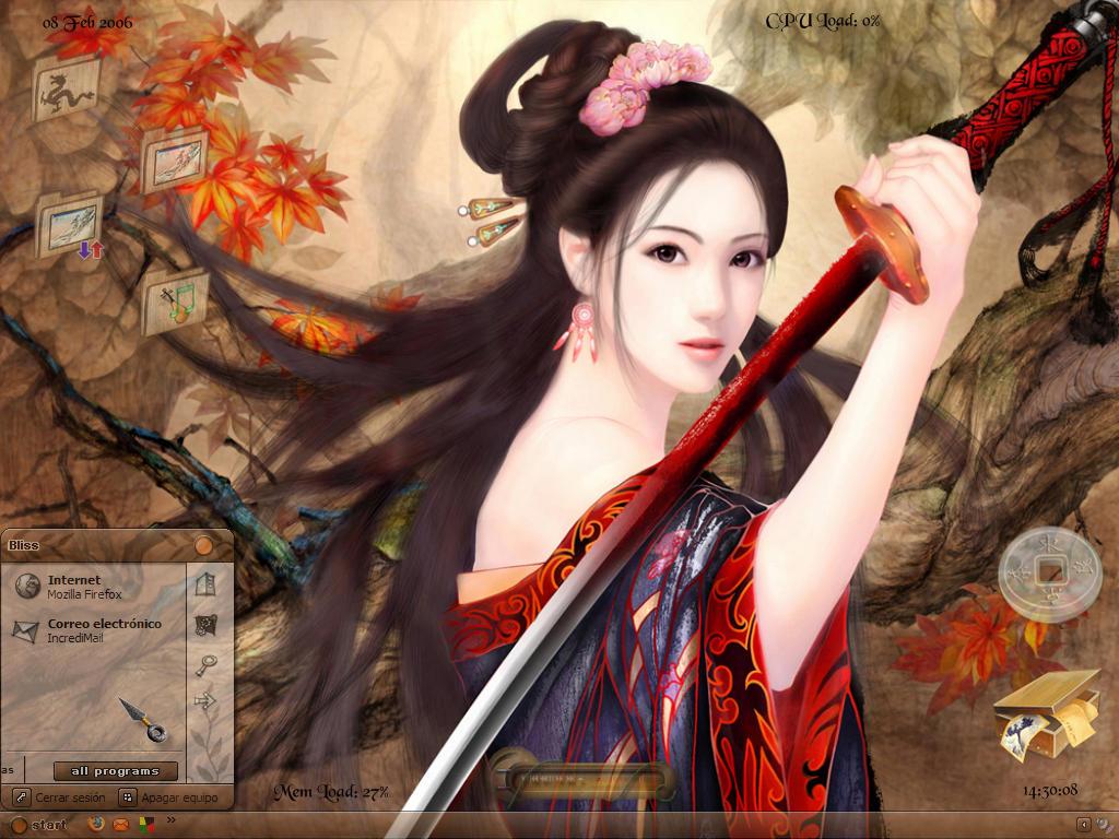 wallpaper geisha corals girl - photo #38