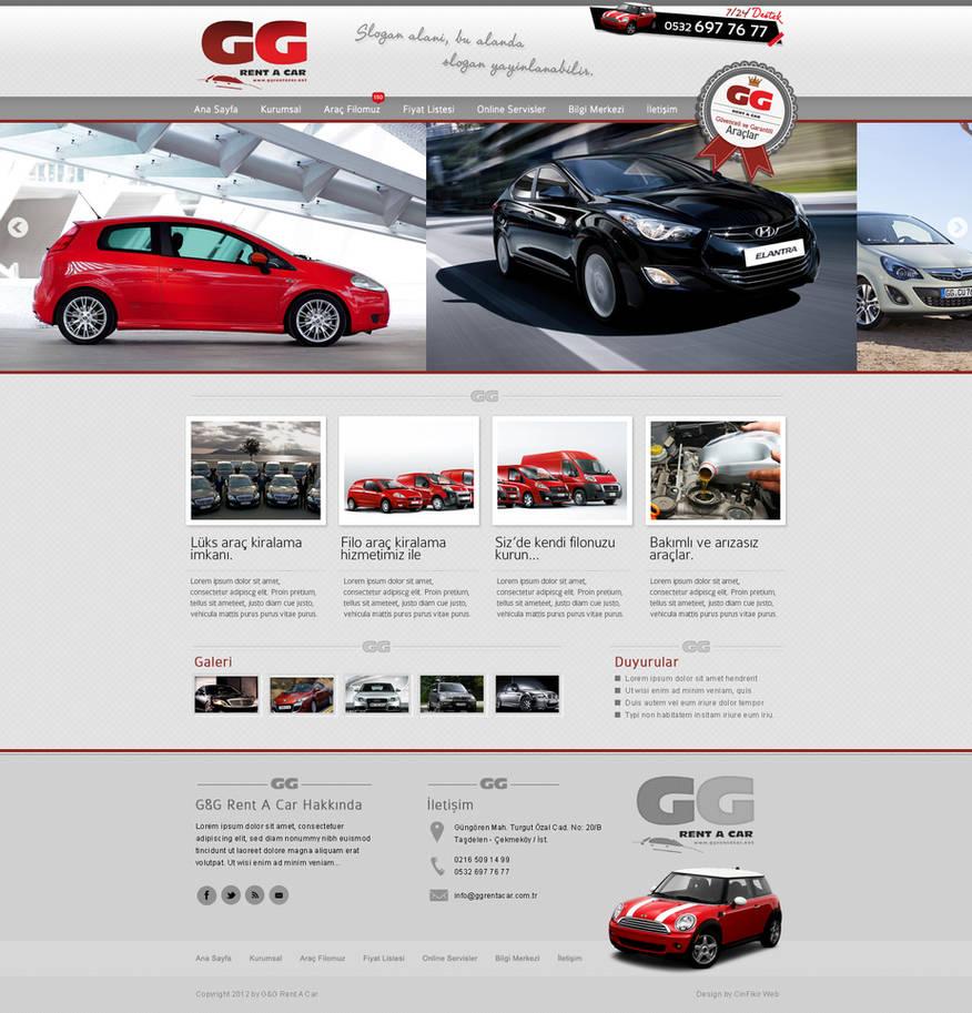 GG Rent A car by CinFikirWeb