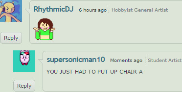 I DARE YOU TO DRAW CHARA AS A CHAIR by supersonicman10