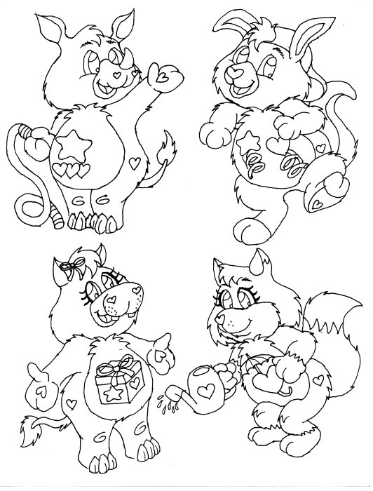 care bears cousins coloring pages - photo#31