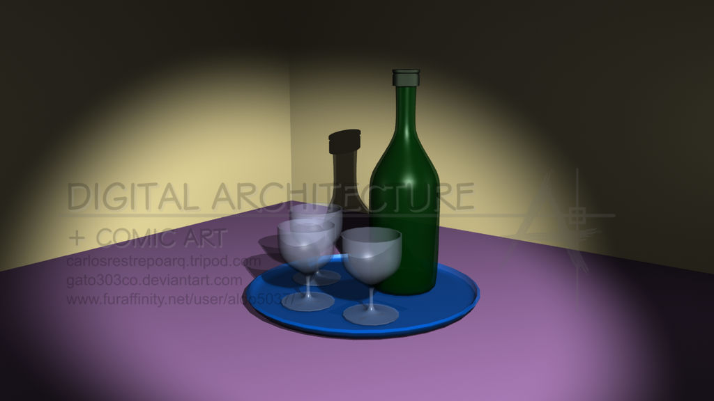 Bottle Cups and Tray