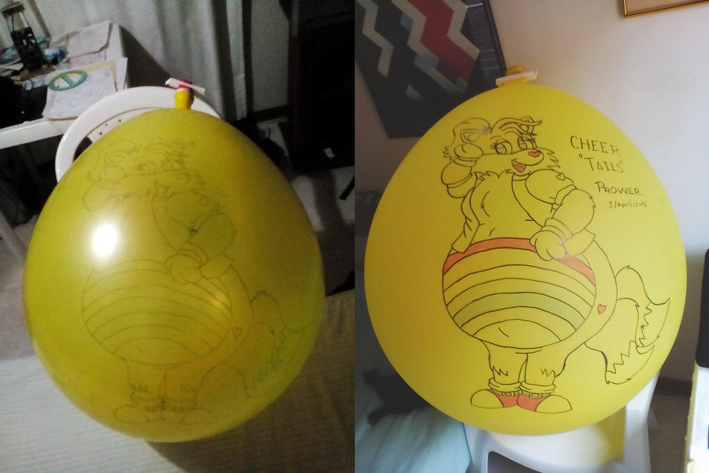 Cheer Tails Prower Balloon by gato303co