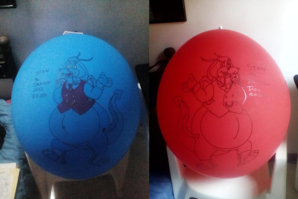 Stan Dragon Dog Balloons by gato303co