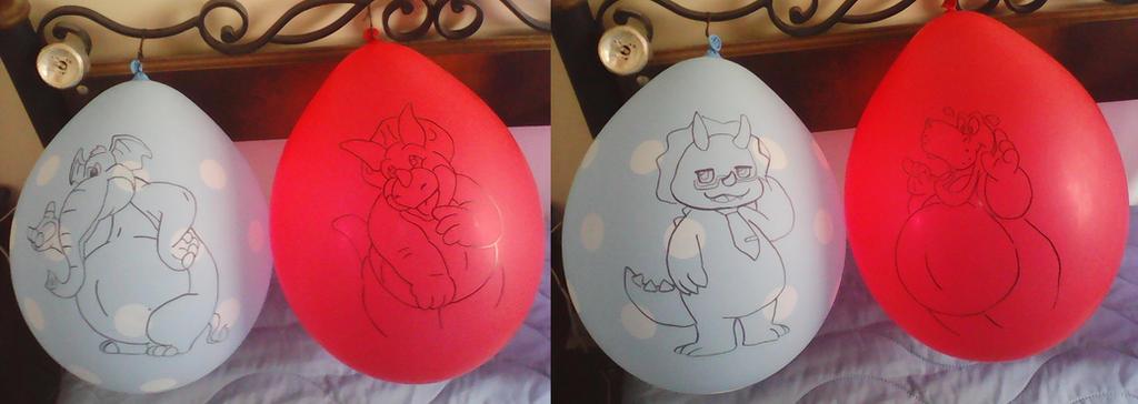Drye, Tricek, Triken, Homer Balloons by gato303co