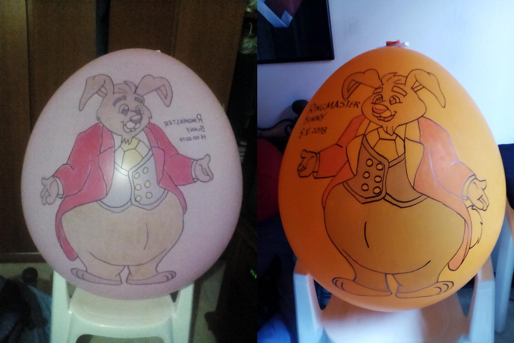 Ringmaster Bunny Balloons by gato303co