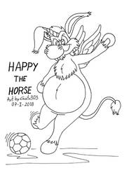 Happy the Horse by gato303co