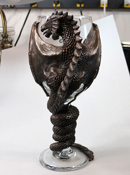 Image gallery dragon goblets - Pewter dragon goblet ...