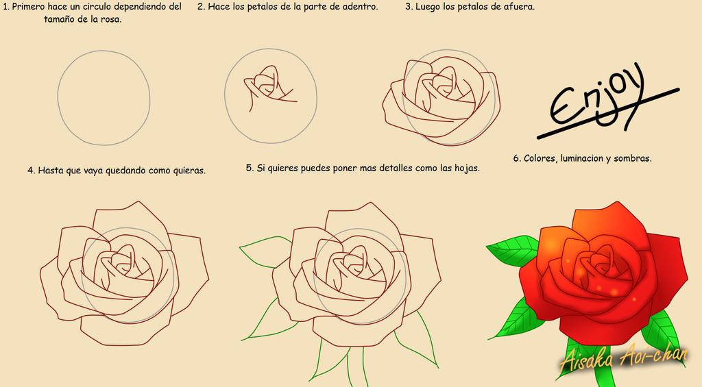 Tutorial como dibujar una rosa by aisakaaoi chan on deviantart - Como secar una rosa ...