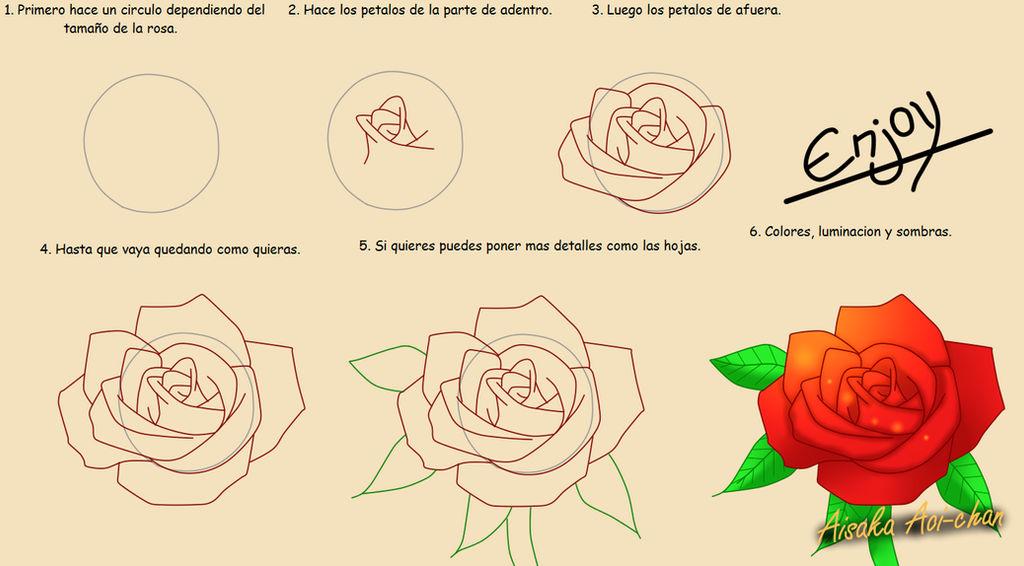 Tutorial Como Dibujar Una Rosa By Aisakaaoi Chan On Deviantart