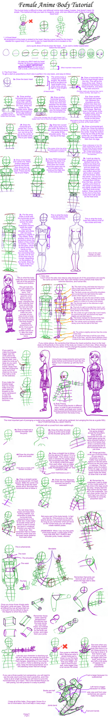 Female Anime Body Tutorial by my-star-seeker