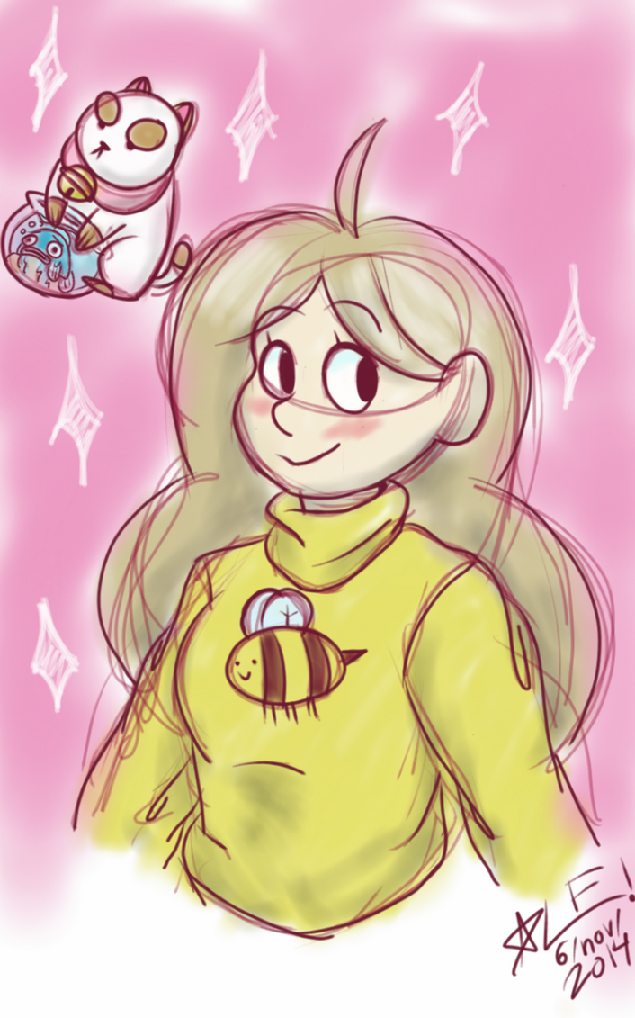 Bee and Puppycat by GIRLYGAMER1998