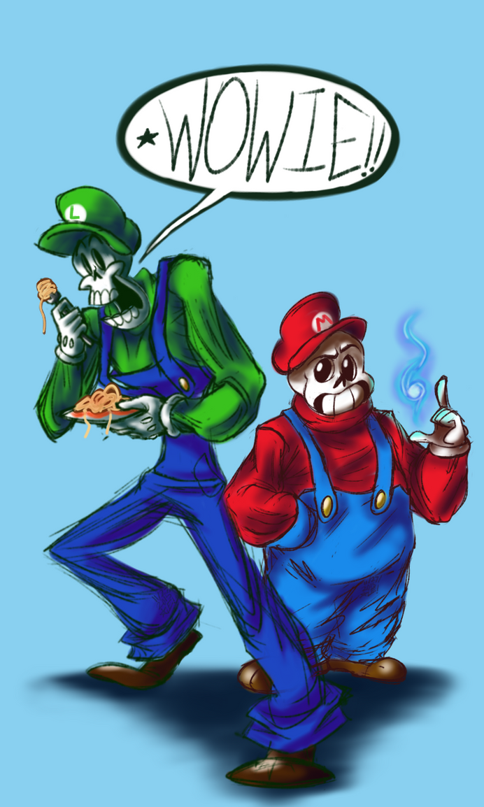 Super Skeleton Bros. by GIRLYGAMER1998
