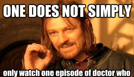 Watching a single episode of Doctor Who by Mustache-Massacre