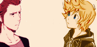 axel x Roxas icons by Land-Sharkz