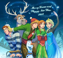 Frozen Xmas And New Year