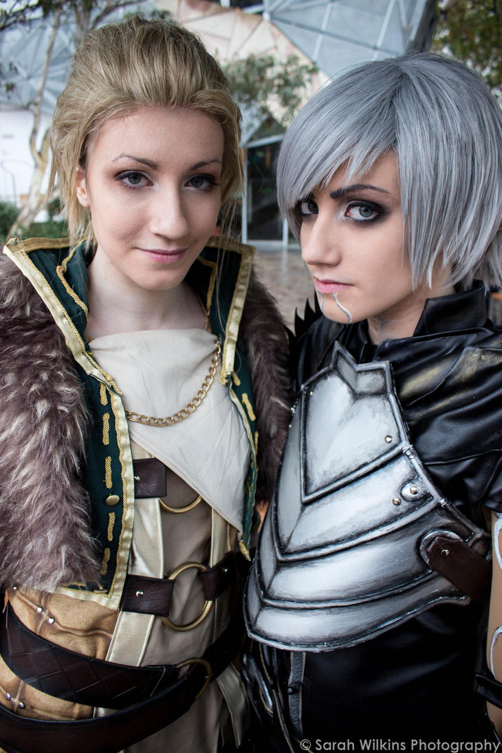 Dragon Age: Fenris + Anders by sarahwilkins