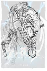Thor and Loki by Bing-Ratnapala