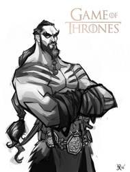 Game of Thrones: Khal Drogo (sketch) by Bing-Ratnapala