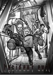 Resident Evil 5 (sketch) by Bing-Ratnapala