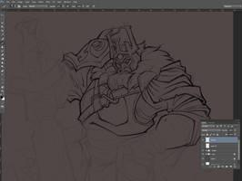 Dota 2: Wraith King (wip2) by Bing-Ratnapala