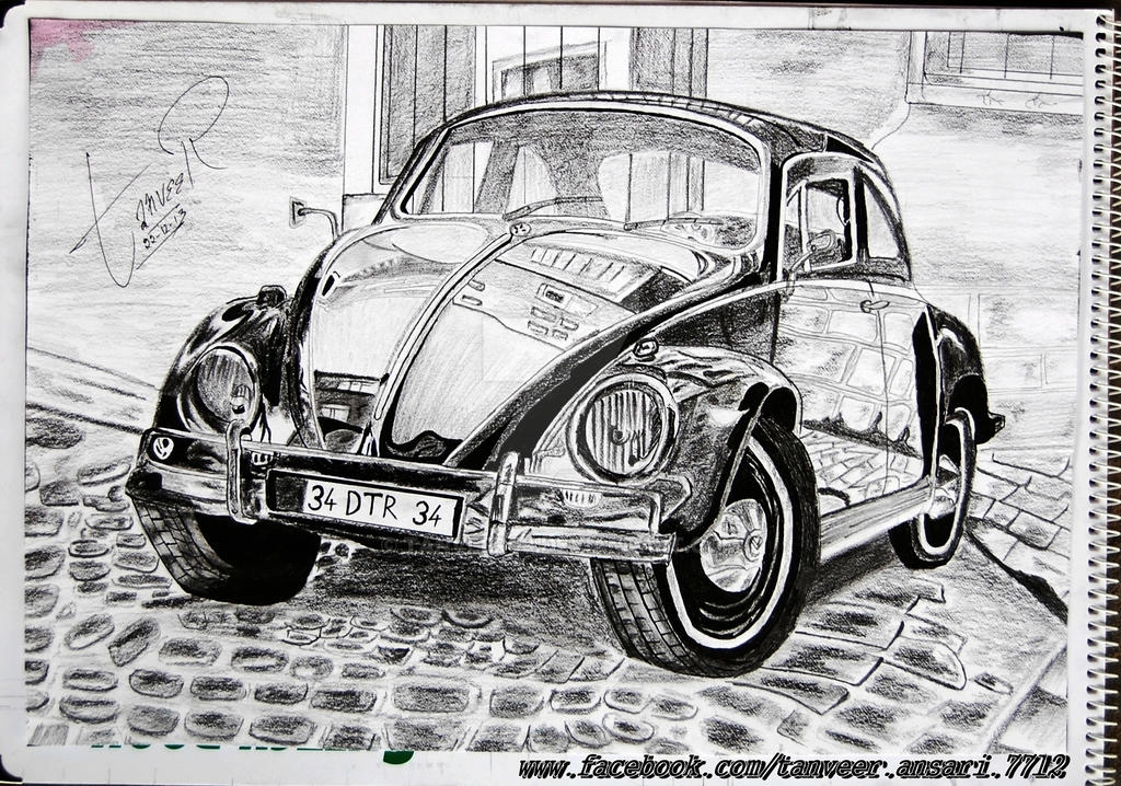 Car pencil drawing by tanveer by tanveer09