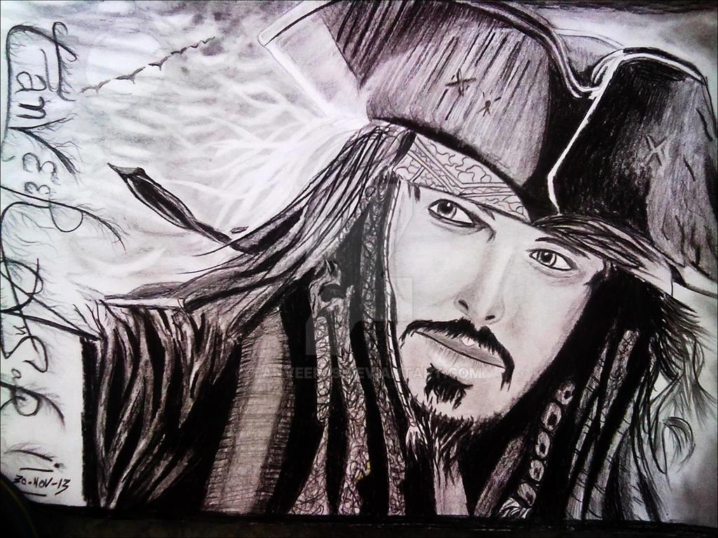 Jhoney deep pencil drawing by tanveer by tanveer09