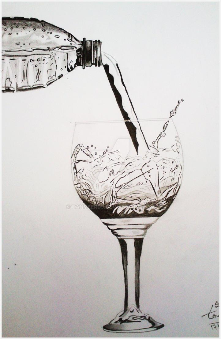 Water glass pencil drawing by tanveer by tanveer09 on deviantart