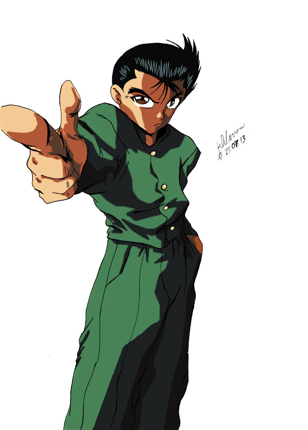 Yusuke urameshi by klebz1 on deviantart for Yusuke demon