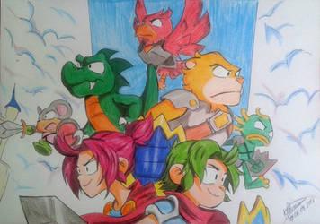 Wonder Boy The Dragon's Trap by KleBz1