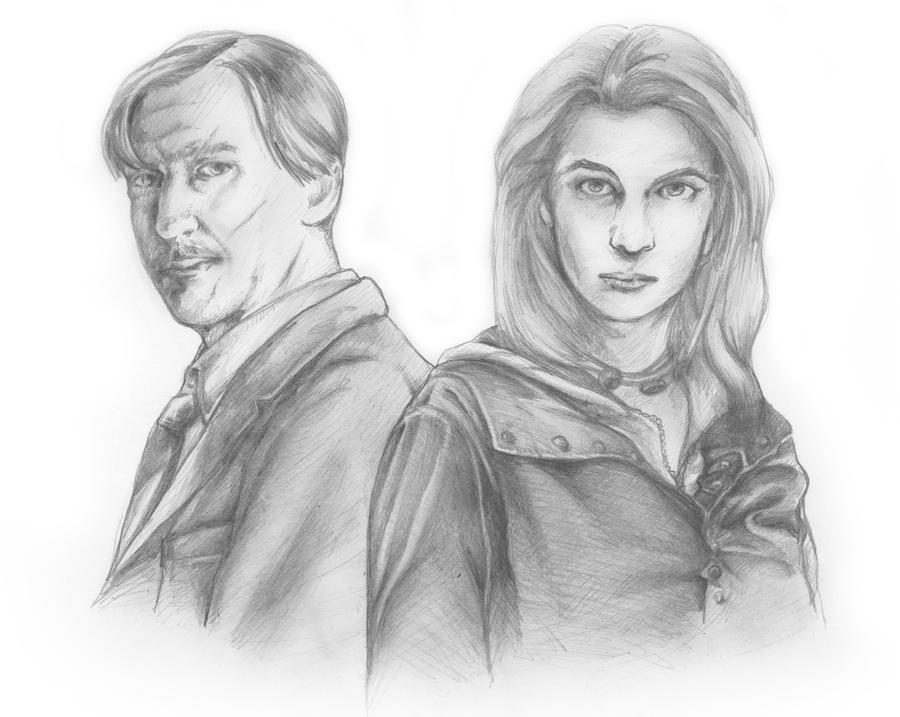 Tonks And Lupin by mgasser
