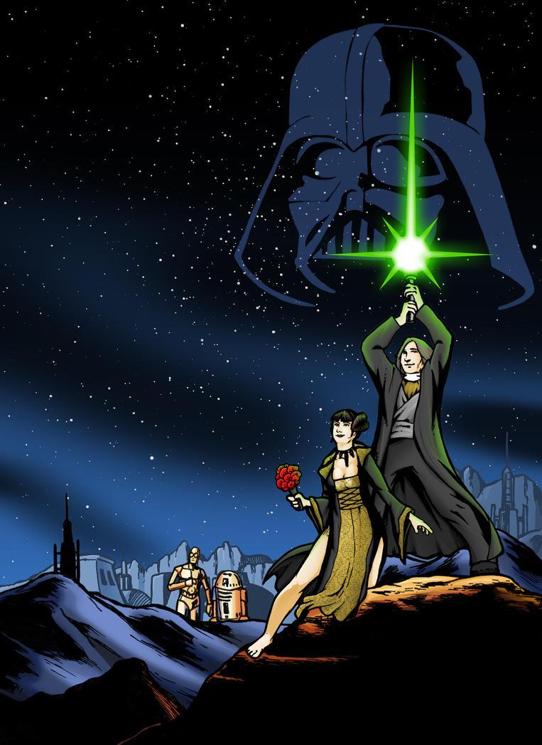 Star Wars Wedding Art by mgasser