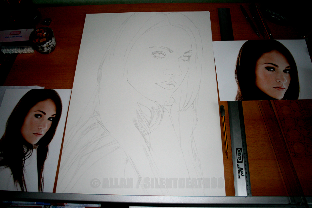 :MEGAN FOX WIP I: by Angelstorm-82