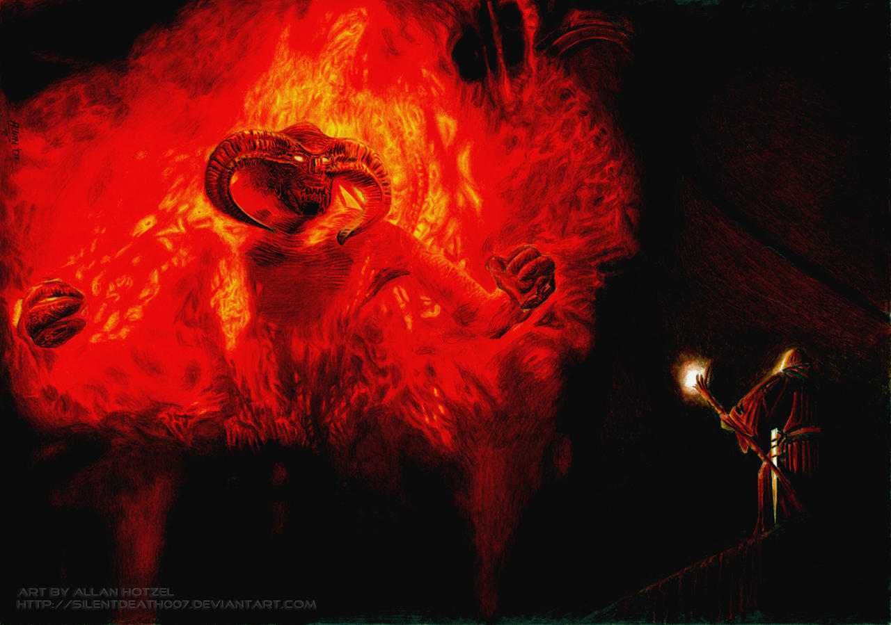 Balrog and Gandalf by Angelstorm-82