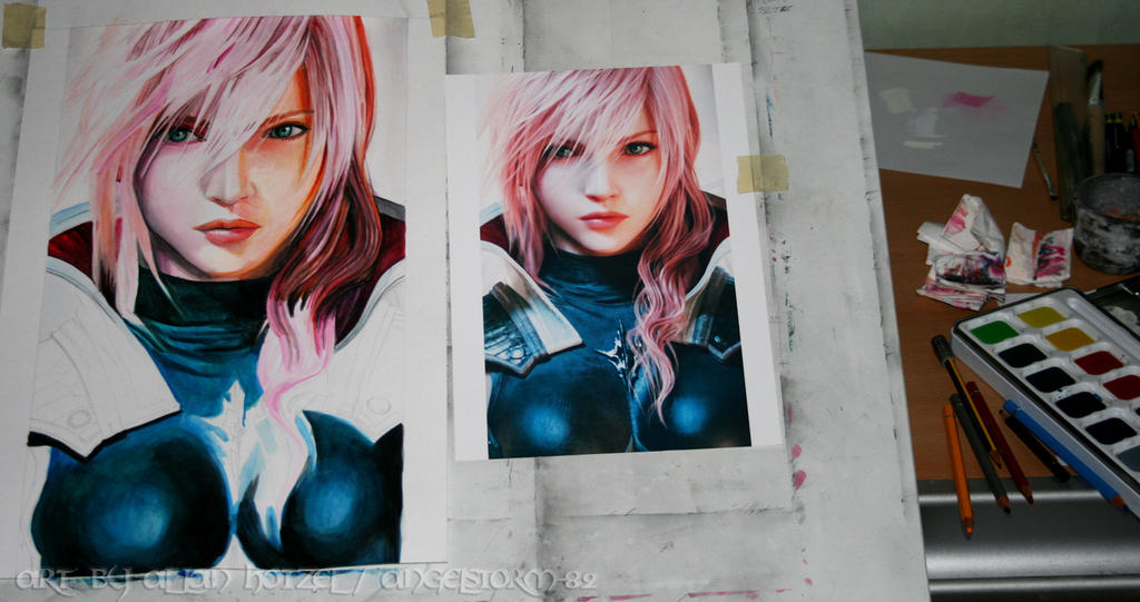 Lightning in watercolor comparison by Angelstorm-82
