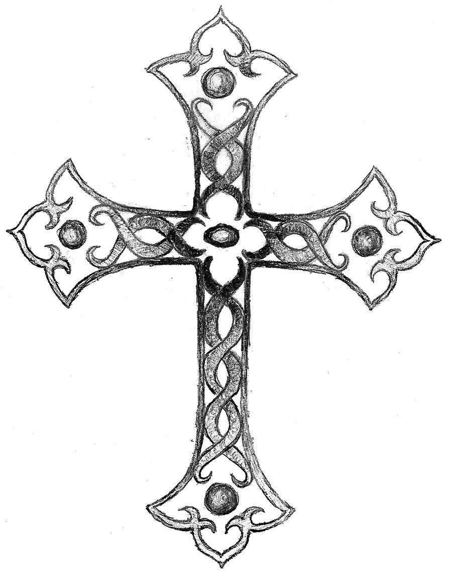 Shaded cross by balloon fiasco on deviantart