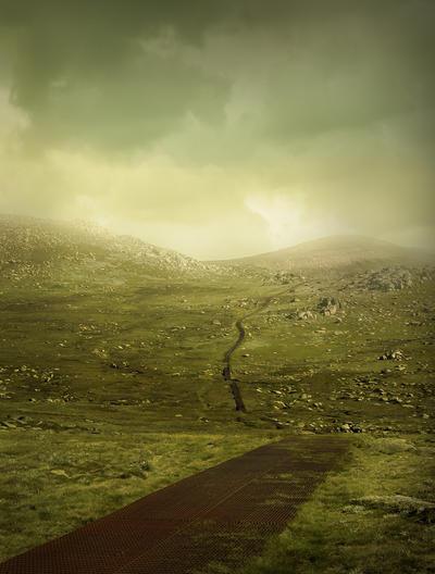 Manipulated: Mountain path