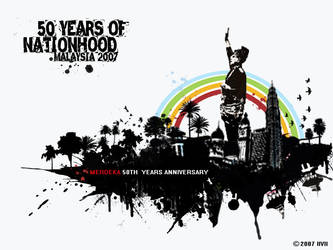 50th years of nationhood by melongray