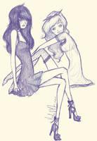 Vintage Girls by PANIC-ITS-NIKKI
