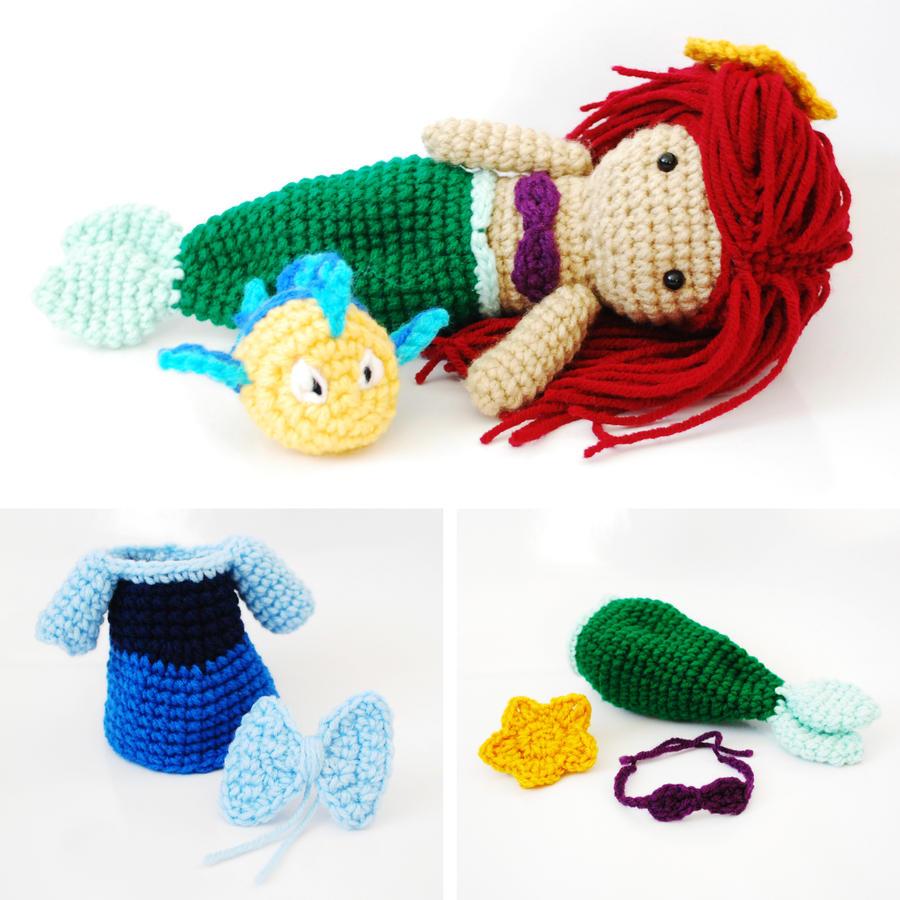 Ariel, The Little Mermaid. Crochet Amigurumi Doll. by CyanRoseCreations