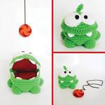 Om Nom, from Cut The Rope - Amigurumi Crochet