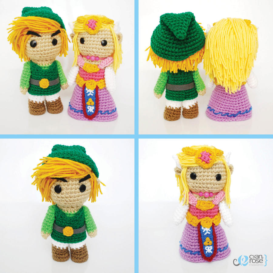 Link and Zelda. Crochet Amigurumi Plush Dolls by ...