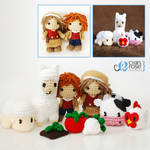 Harvest Moon Amigurumi Set of 9 - Crochet Dolls