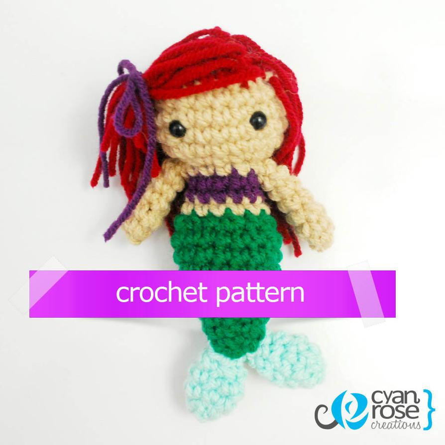 Crochet Pattern Design Software : Little Mermaid - CROCHET PATTERN by CyanRoseCreations on ...