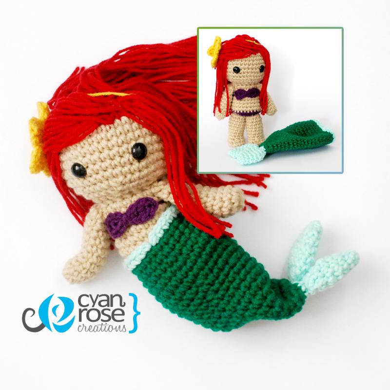 Amigurumi Mermaid Tail : Ariel - The Little Mermaid Crochet Amigurumi Doll by ...