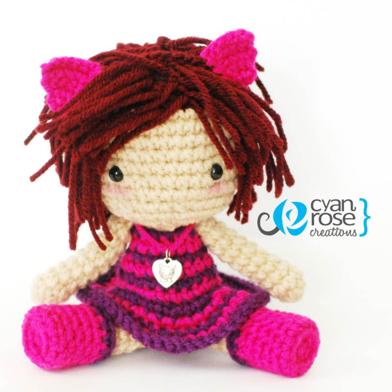 Cheshire Cat Amigurumi Crochet Pattern Free : Cheshire Cat Inspired Crochet Amigurumi Plush Doll by ...